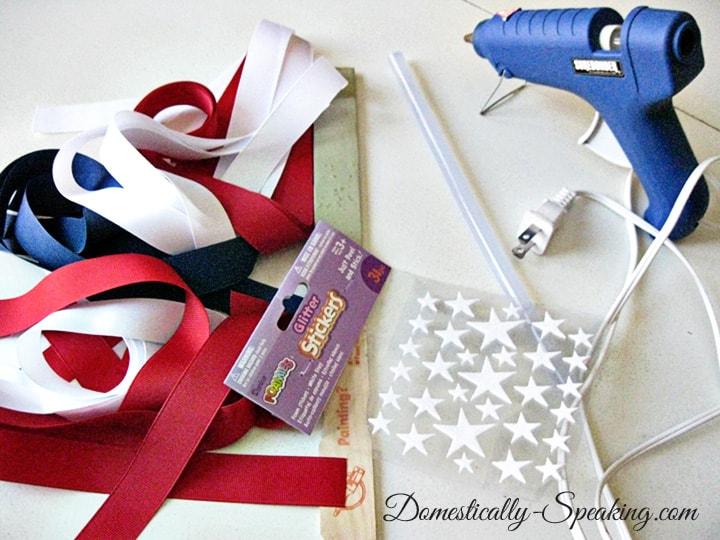 4th of July Ribbon Flag craft idea