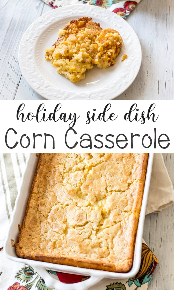 The ultimate holiday side dish! This corn casserole is a family favorite. Is sweet and with such great corn flavor.