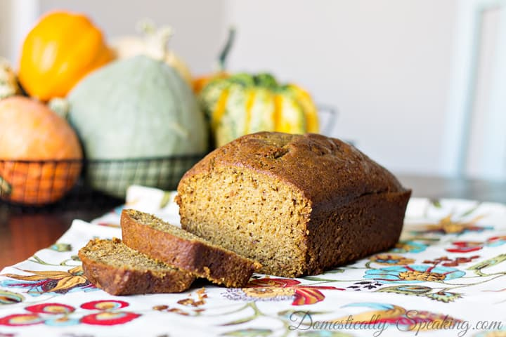Delicious Pumpkin Spice Bread packed with flavors of the autumn season