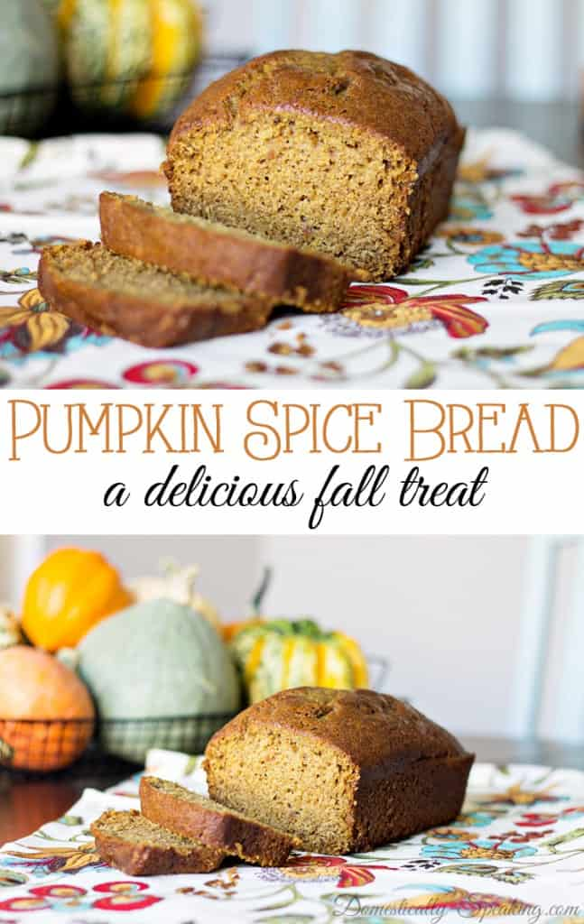 Pumpkin Spice Bread - a delicious fall treat & a family favorite packed with pumpkin, cinnamon, nutmeg and cloves