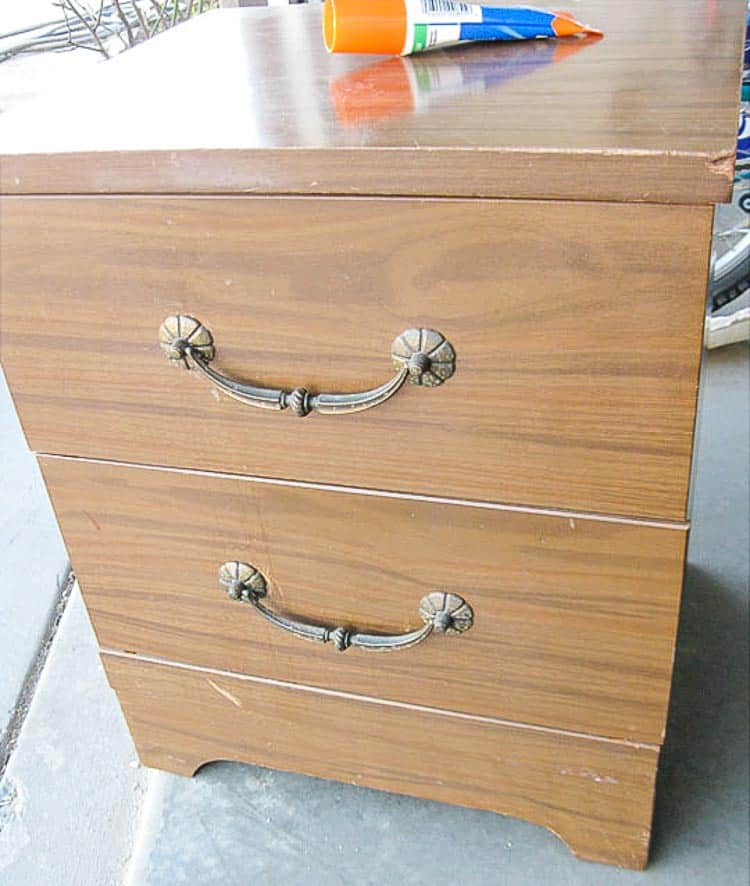 How To Paint Laminate Nightstands Domestically Speaking