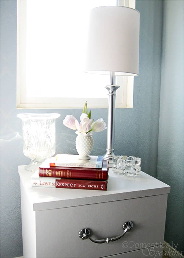 paint laminate furnitureHow to Paint Laminate Nightstands  Domestically Speaking
