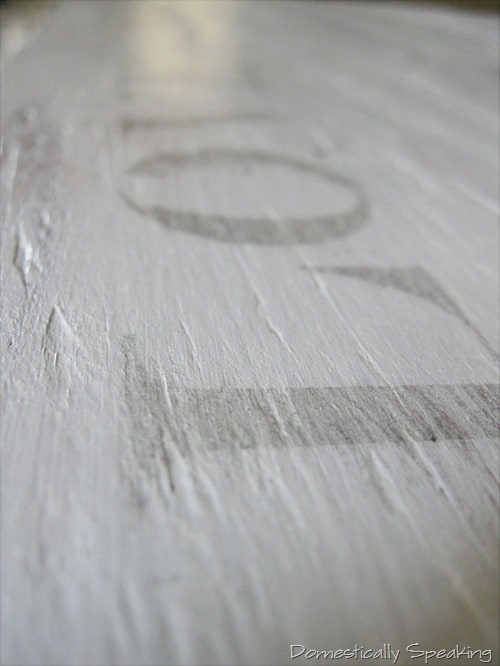Words transferred onto the plywood the easy way
