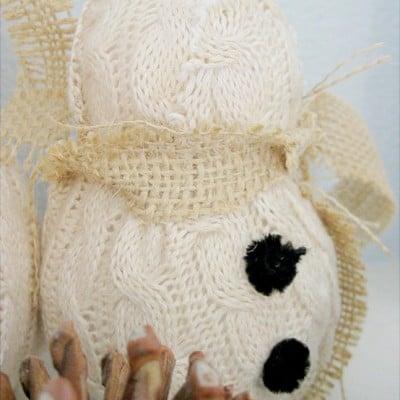 Sweater scrap snowman