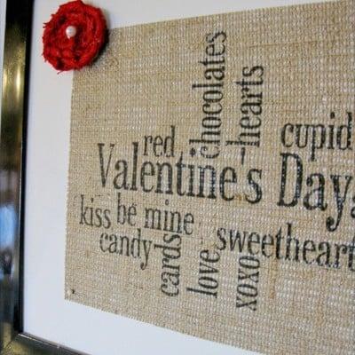 Valentine's Day Burlap