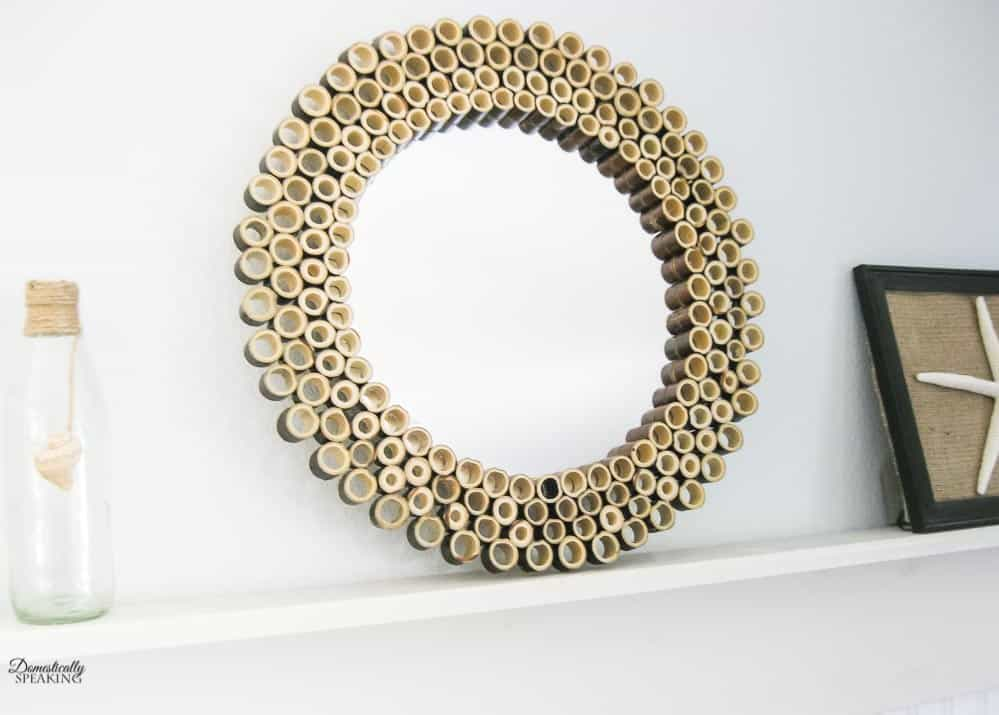 Decorative Bamboo Sunburst Mirror that you can make yourself.