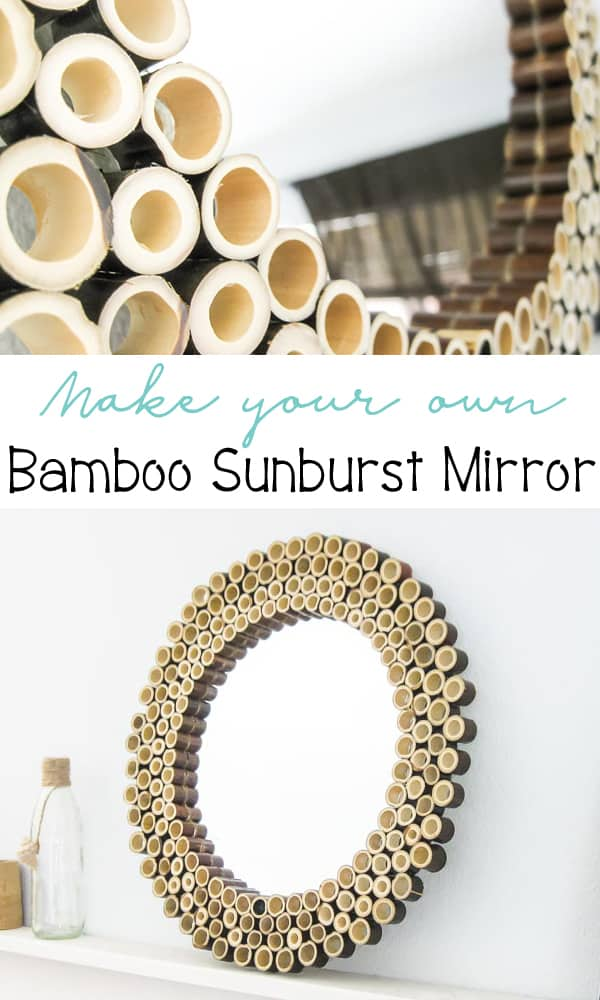 Make your own Bamboo Sunburst Mirror
