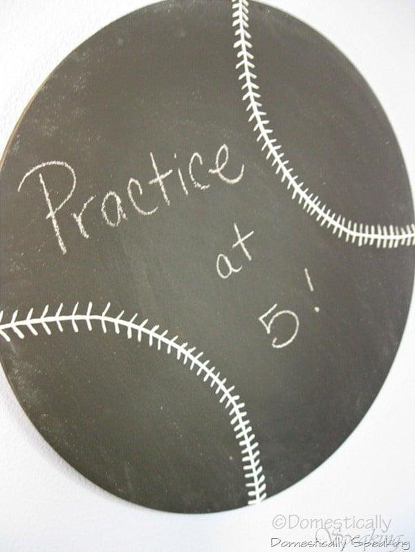 How to Make a Baseball Chalkboard