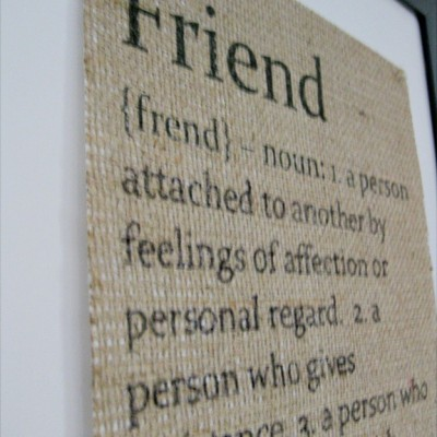 Friend Burlap