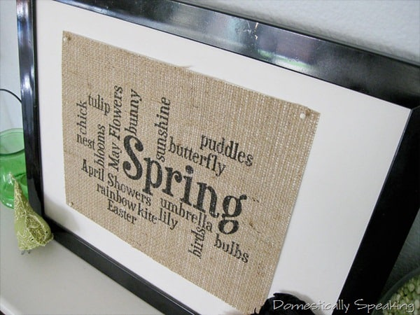 Spring Subway Art on Burlap
