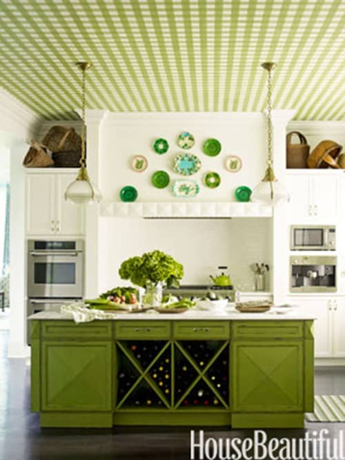 PoPP green kitchen House beautiful. 116th Power of Paint Party    Green   Domestically Speaking