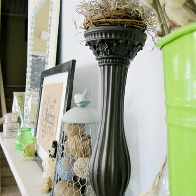 Countdown to Spring Party… Spring Mantel