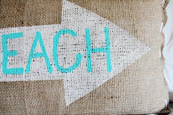 burlap beach pillow 4