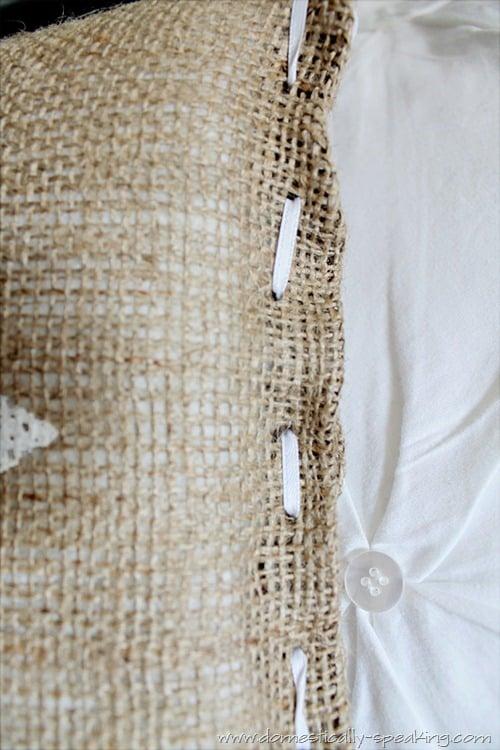 burlap beach pillow 6