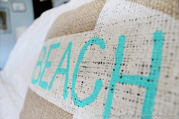 burlap beach pillow 8