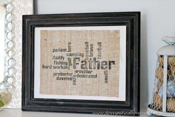 father burlap 1