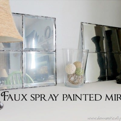 124th Power of Paint Party… Faux Mirrors