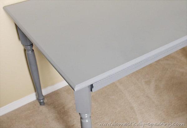 coffee table, spray paint