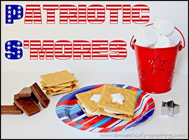 patriotic smores, 4th of July, star smores
