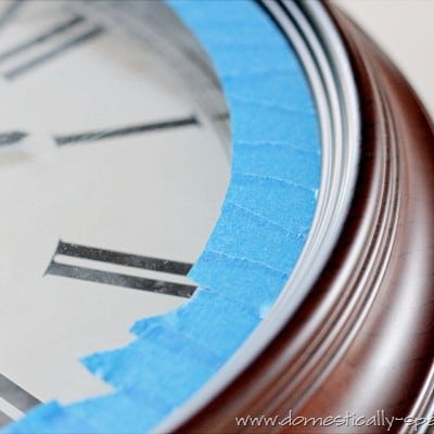 137th Power of Paint Party… Shimmer'izing a Clock