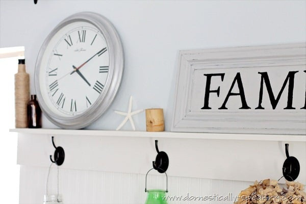 Faux Wood Clock goes silver with Acrylic Paint