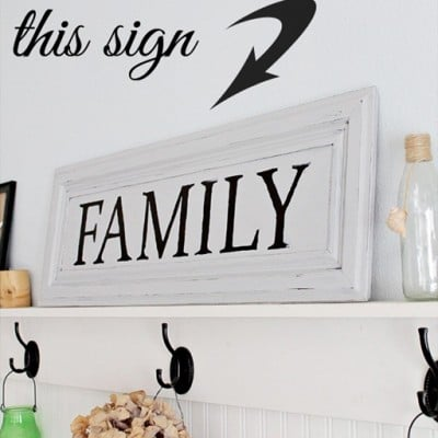 "135th Power of Paint Party… Making a ""Family"" Sign"
