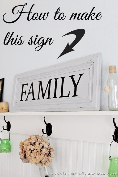 Making a Family Sign