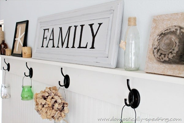 Family Sign from a Cabinet Door