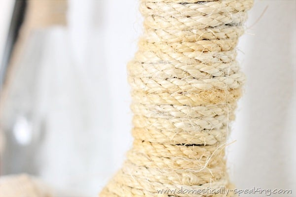 How to make a rope candle holder @ Domestically Speaking