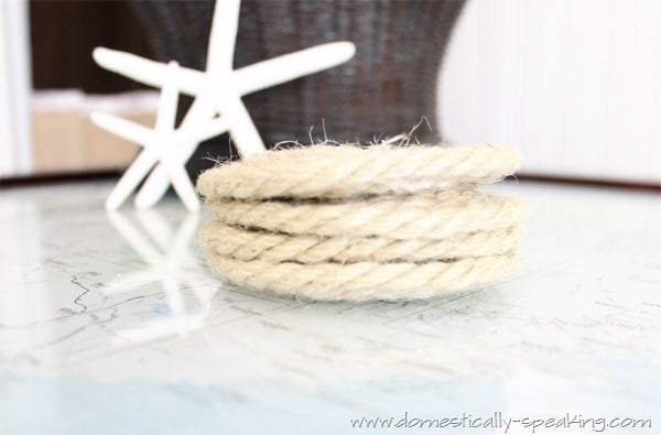 Rope Coasters on a Map Table