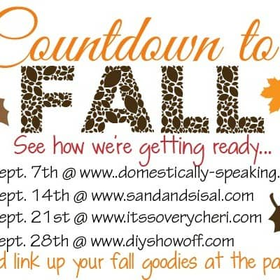 Fall's a Coming & So is the Party!