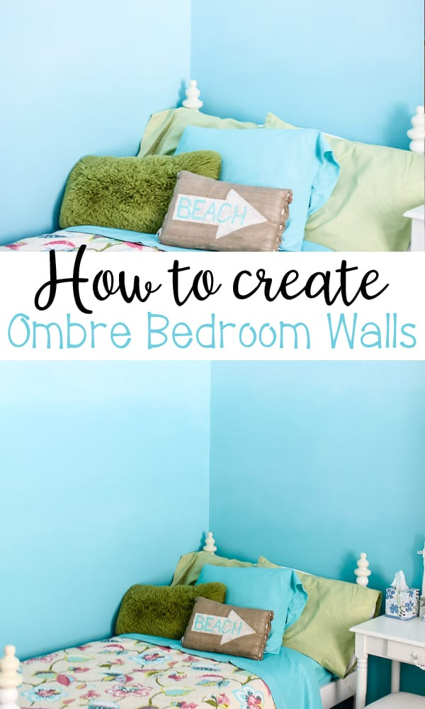 How to Create Ombre Bedroom Walls with this COOL DIY paint technique - learn all the details!