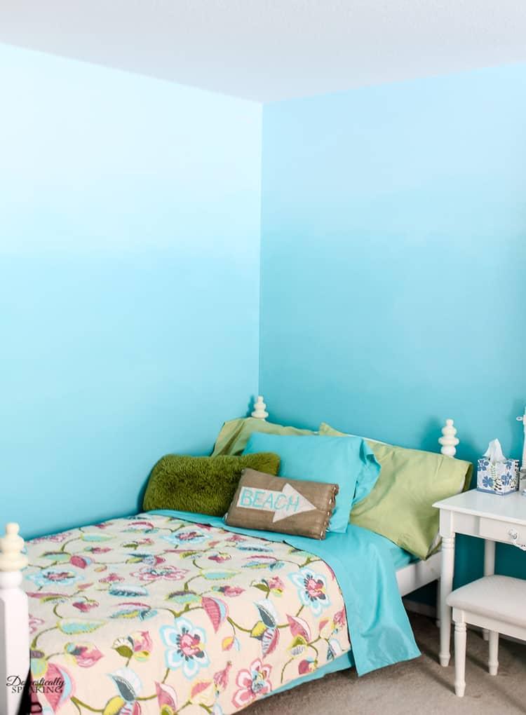 Ombre Bedroom Walls Tutorial