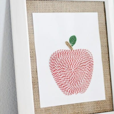 Countdown to Fall Party… Baker's Twine Apple Art