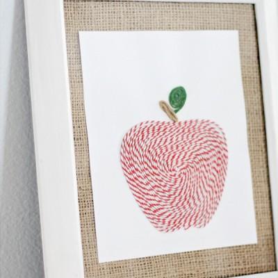 Baker's Twine Apple Art