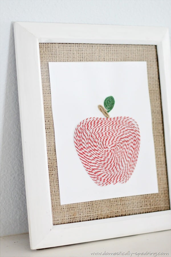 twine apple art