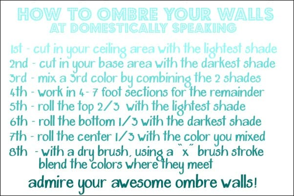 how to paint your walls ombre