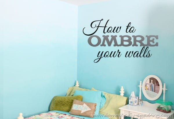 145th power of paint party ombre bedroom wall tutorial for How to make teal paint