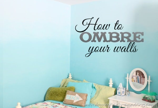 How to Ombre Your Walls to create a beautiful, beach bedroom. This DIY is totally doable and a fun home decor update.