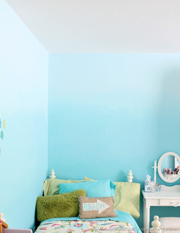 145th Power of Paint Party Ombre Bedroom Wall Tutorial