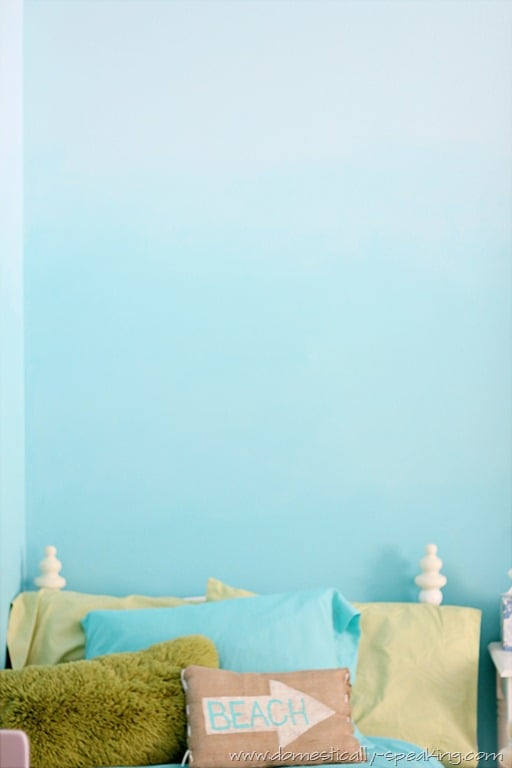 145th power of paint party ombre bedroom wall tutorial domestically speaking. Black Bedroom Furniture Sets. Home Design Ideas