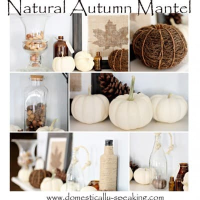 Natural Autumn Mantel