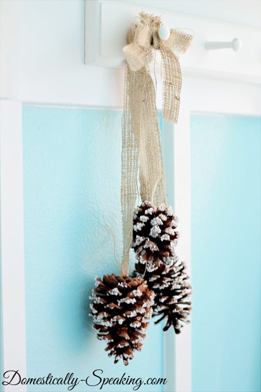 Snowy Pine Cone Cluster
