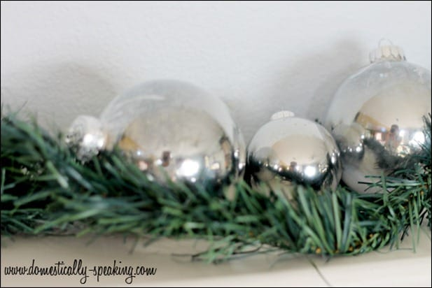 Faux Mercury Glass Bulbs @ Domestically Speaking
