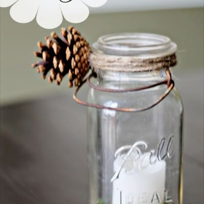 Pottery Barn'ish Christmas Mason Jar & Party Time