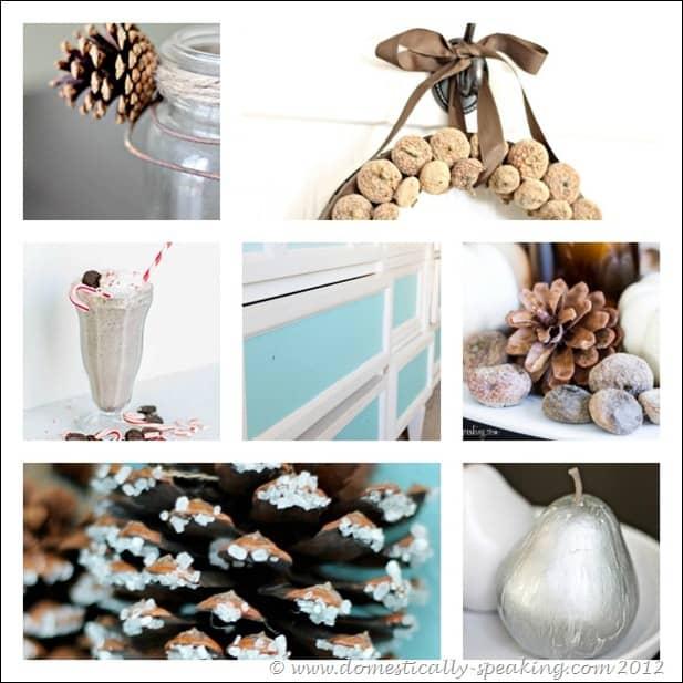 burlap, paint, recipe, ombre, pine cones