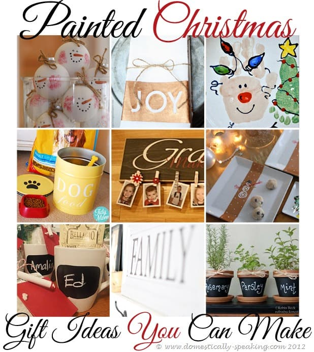 Christmas Party Gift Ideas.155th Power Of Paint Party Painted Christmas Gift Ideas