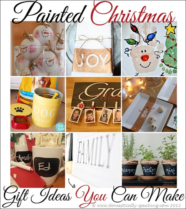 Painted Christmas Gift Ideas you can make