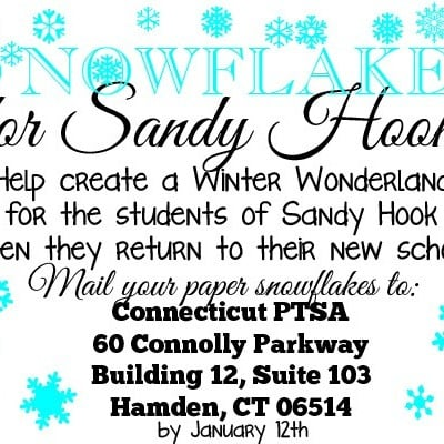 Paper Snowflakes for Sandy Hook