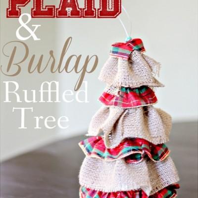 Plaid & Burlap Ruffled Tree
